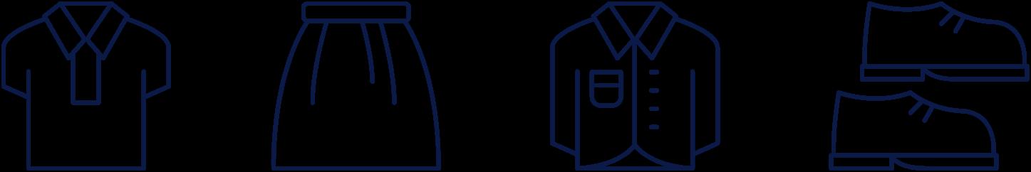 カジュアルな服のアイコン